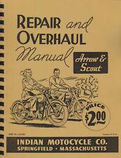 Vertical Indian Motorcycle ~ Arrow / Scout 149/249 Rebuild Manual ~ Reprnt