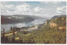 Columbia River Gorge From Crown Point Oregon Washington Vintage View Postcard