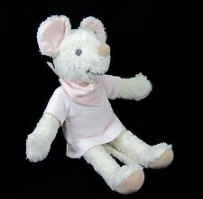 Steiff Plush Sniffy Mouse Organic Baby Crib Nursery Toy Pale Pink 237706