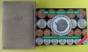 1991 RAM Proof Coin Set – Featuring Ram Head Fifty Cent + Last of the 1c & 2c