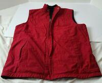 Womens Lauren Active Ralph Lauren Reversible Vest Size xL Red black fleece