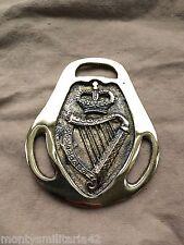 Excellent Vintage British Army London Irish Regiment QC Military Horse brass