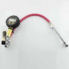 Vehicle Car Dual Chuck Air Tire Pressure Filler Inflator Gun Gauge Meter 230psi