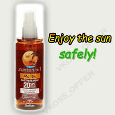 "Suntan oil Malibu for quick tanning by ""Floresan"" SPF 20"
