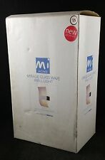"""Homebase Indoor """"Mirage Glass Wave"""" Wall Light 100W, New in Box"""