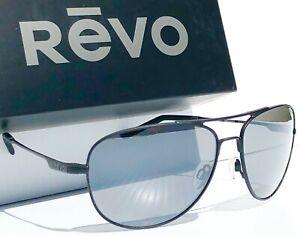 NEW* REVO Windspeed Black 61mm AVIATOR POLARIZED Gray lens Sunglass 3087 01 GY