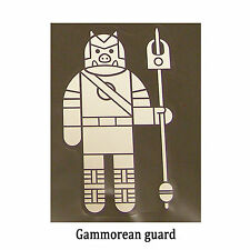 Star Wars Decal: Gammorean guard (80x135mm) from Jabba's Palace