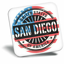 Awesome Fridge Magnet - San Diego USA American Flag Stamp Cool Gift #6051