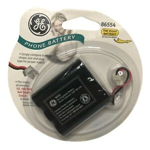GE Phone Rechargeable NiCad Battery 86554 Fits GE NW Bell Sanyo Bell South 3.6V