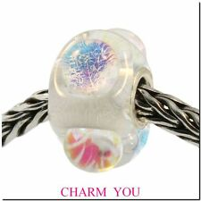 AUTHENTIC TROLLBEADS 62014 Dichroic Ice Glass Bead