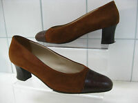 VINTAGE Ladies brown suede leather BALLY COURT SHOES pumps UK6 UK 5.5