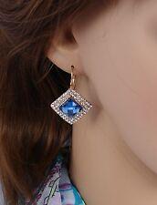 orecchini Oro - blu Strass,zircone,cristalli ,Da Donna, idea regalo