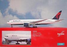 Herpa Wings 1:500 Boeing 777-200  Delta Air Lines N866DA 529839 Modellairport500
