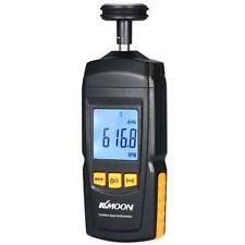 Handheld Digital Tachometer Contact Rpm Tach Meter Motor Speed Gauge Tester F4g6