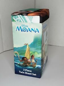 Disney Moana Twin Sheet Set 3 Piece Bed Set