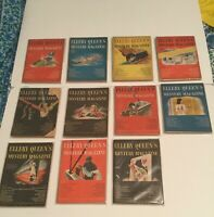 Vintage Ellery Queen's Mystery Magazine Lot of 11 1946 All Bagged
