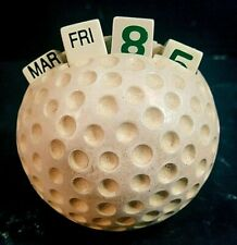 GOLF BALL SHAPED VINTAGE DESK CALENDAR, Must See!