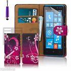 Portafogli In Similpelle A Libretto Custodia Cover Per Nokia Lumia 820 Proteggi