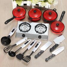 Children Kid Pretend Play Cooking Food Kitchen Cookware Pot Pan Spoon Toy 1 Set