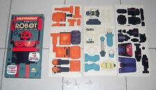 COSTRUISCI IL TUO ROBOT Libro + 3 modellini con 61 pezzi 3 motori a carica NUOVO