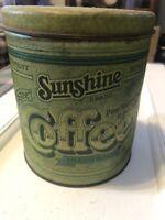 Sunshine Brand Coffee Tin