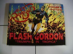 FLASH GORDON VOL 6 HARDCOVER-ALEX RAYMOND-COLOR REPRINTS-STRIPS 496-579 VF