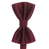Men's Plain Polyester Pre Tied Wedding Bow Tie (dark red) M2X6 X2K3