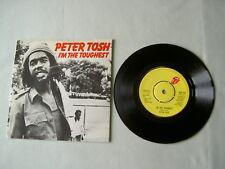 "PETER TOSH I'm The Toughest 7"" vinyl single"