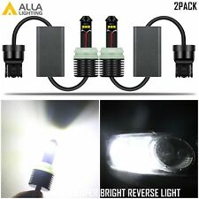 Alla Lighting 6000K 7440 LED Backup Reverse Light Bulb Lamp,Ultra Bright White