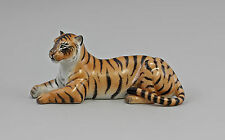 Porzellan Figur farbiger Tiger liegend Kämmer 9944096