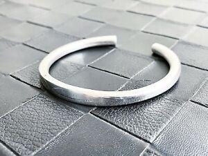 Mens Womens Heavy Silver Solid Torque Bangle Handmade UK - Fine Silver