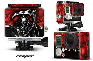 Skin Stickers for GoPro Hero 3+ Camera & Case Decal HERO3+ Go Pro REAPER RED