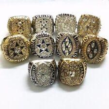 10 PCs ring 1971 1977 1992 1993 1995 Dallas Cowboys World Championship Ring