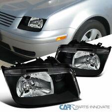 For VW 99-05 Jetta Bora Mk4 Black Headlights Head Lamps w/o Built-in Fog Lights