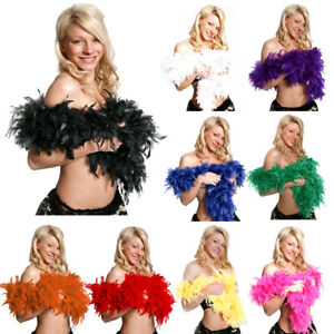 DELUXE FEATHER BOAS 80GR ACCESSORY 1920 GATSBY FLAPPER BURLESQUE 20S FANCY DRESS