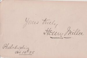Autographed Album Page English-born American actor Henry Miller 1885