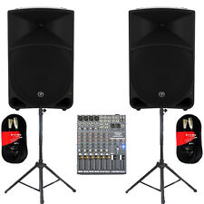 """Mackie THUMP15 Powered 15"""" Speakers 2000W with Mixer Stands & More THUMP15SET5"""