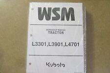Kubota L3301 L3901 L4701 L3301 3901 4701 tractor service & repair manual