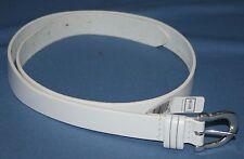 Charter Club White Leather Belt Sz L Womens  Accessory