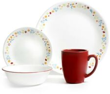 Corelle Livingware 16 Piece Dinnerware Set Vitrelle Service For 4 Dining Round
