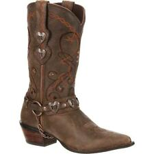 Ladies Durango Crush Brown Heartbreaker Western Boots NEW