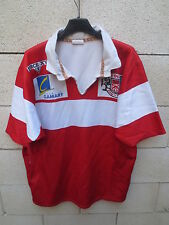 VINTAGE Maillot rugby porté n°16 CSM CLAMART 1963 Force XV XL match worn shirt