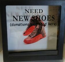 """RETRO AIR JORDAN 12 XII FLU GAME """"SNEAKER FUND DONATION BOX ONLY"""", 2X6"""",NEW BRED"""