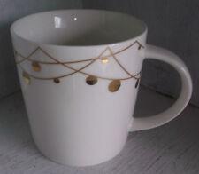 2012 Starbucks Gold Christmas Balls Ornaments Holiday Mug Cup New Bone China
