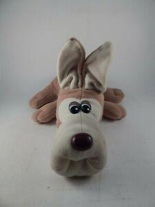 "RARE Tonka Pound Puppies Large Tan 20"" Dog Plush w/ Cropped Ears + Brown Collar"