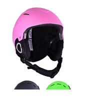Childs Ski Helmet Girls Pink Junior Snowboarding Helmet 52 - 56 cm Ages 4 - 8