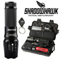 GENUINE 13000lm CREE L2 LED Tactical Shadowhawk X800 Flashlight Military Torch