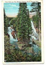 Twin Falls near Two Medicine Chalets Glacier National Park Postcard