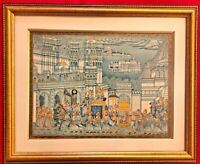 Hand Painted King Procession Miniature Painting India Artwork Udaipur Framed