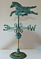 "Horse Weathervane Brass Green Finish Horse Weather Vane HandCrafted 19"" tall"